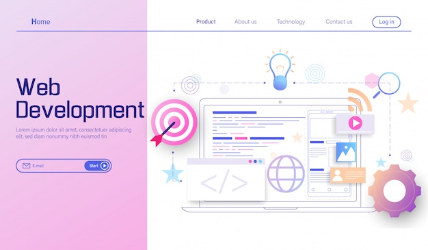 Web development modern , mobile app development, coding and programming