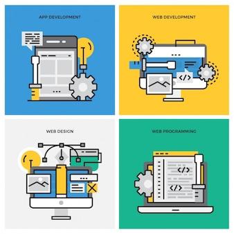 Web development process Free Vector
