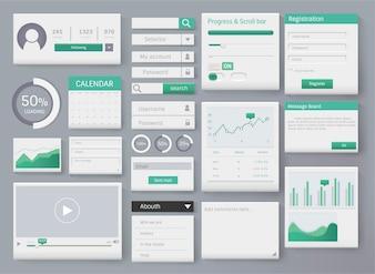 Web element layout template interface illustration