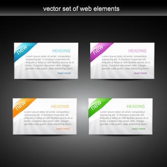ウェブ要素 Premiumベクター
