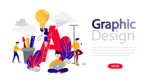 Web graphic design landing page