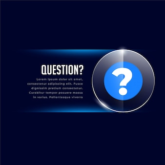 Web helo and support template with question mark