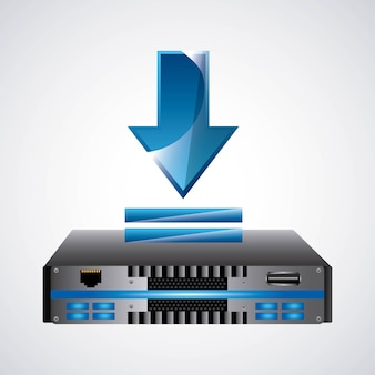Web hosting icon. technology design. vector graphic