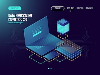 Web hosting, user interface development laboratory concept, data storage in cloud