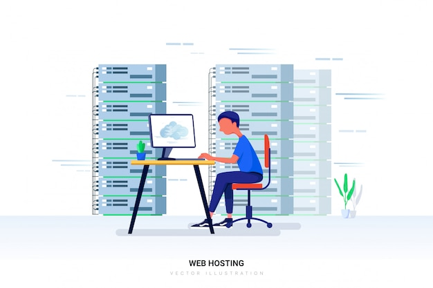 Web hosting  with character.