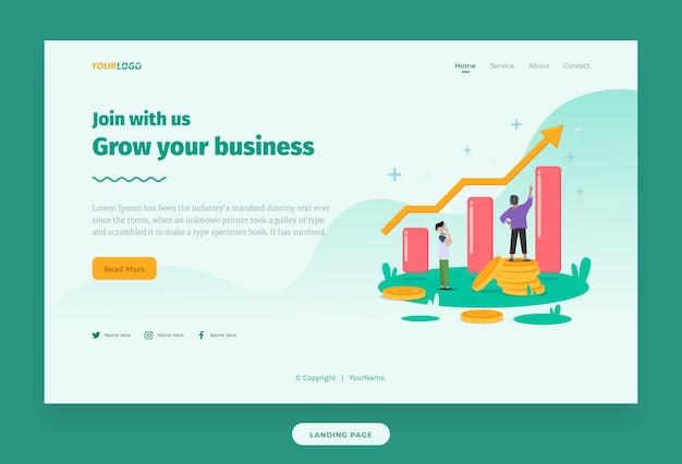 ウェブイラストテンプレート統計イラストキャラクターコインドルでビジネスを成長させる