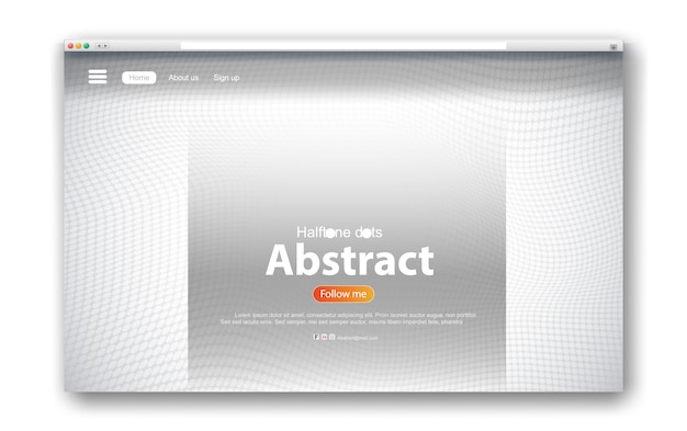 Web interface design abstract