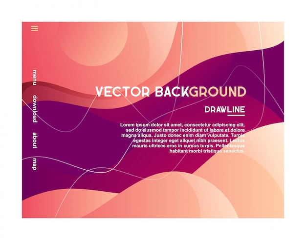 Web landing background design abstract