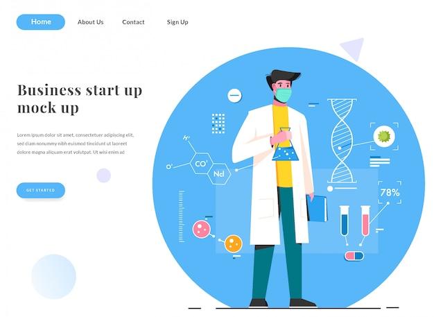 Webランディングページの科学者がウイルス対策を見つける