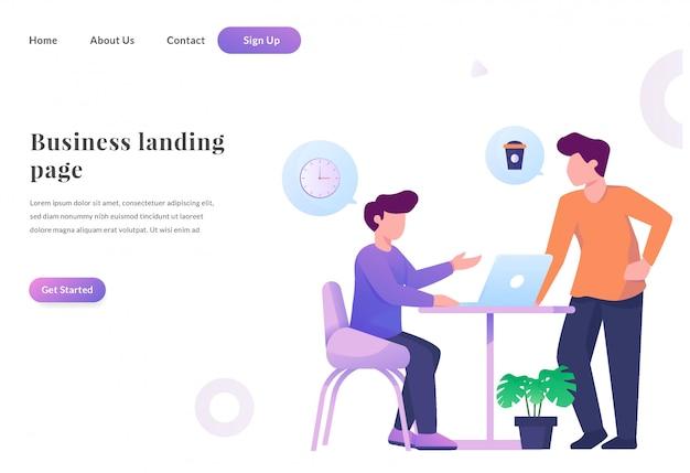 Web landing page talking to hangout