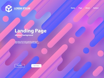 Web landing page template background with abstract design