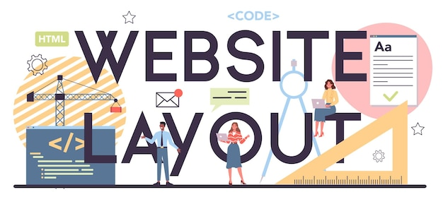 Web layout typographic header