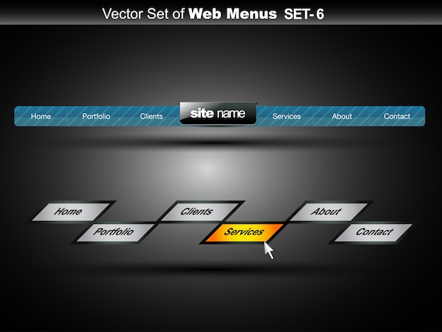 Дизайн веб-меню