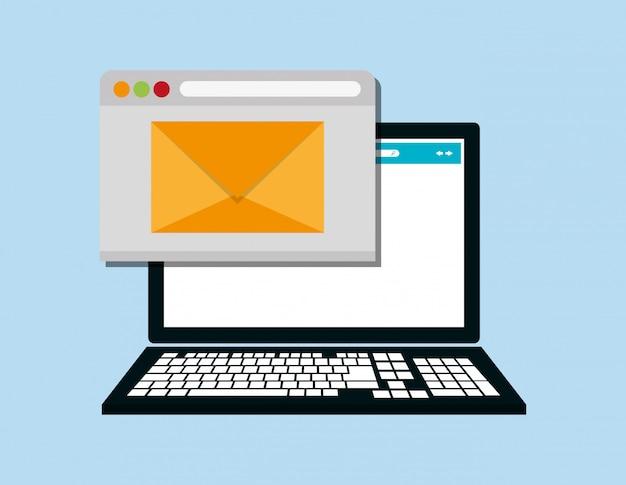Web messaging through computer image
