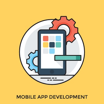 Web and mobile development icons set