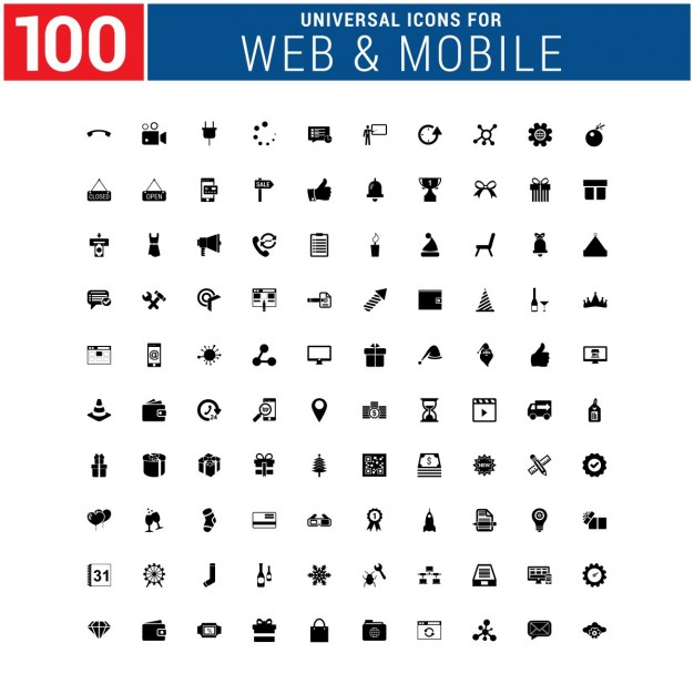 Web & mobile icons collection