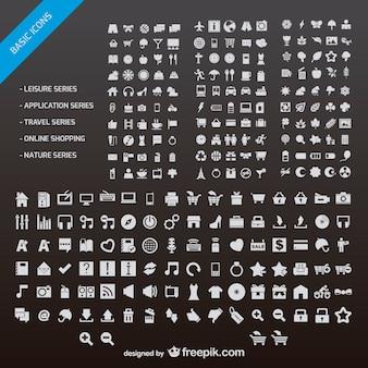 Webデザインの小さなアイコンベクトル材料のn個の
