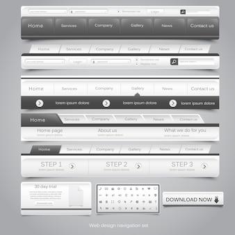 Web  navigation set.