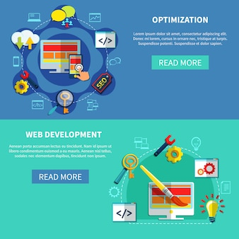 Web optimization banners set