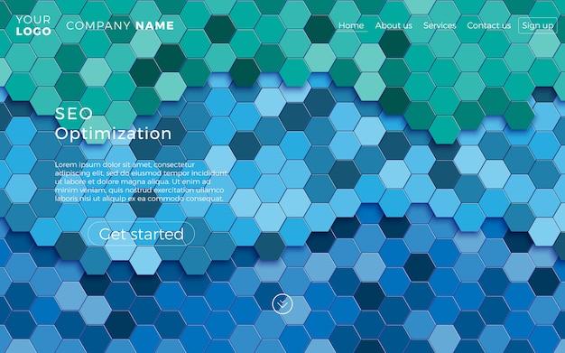 Web page design template.