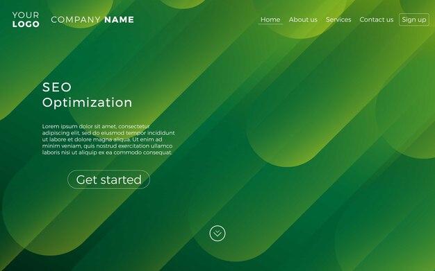 Web page design template