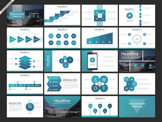 Web page design templates for business app
