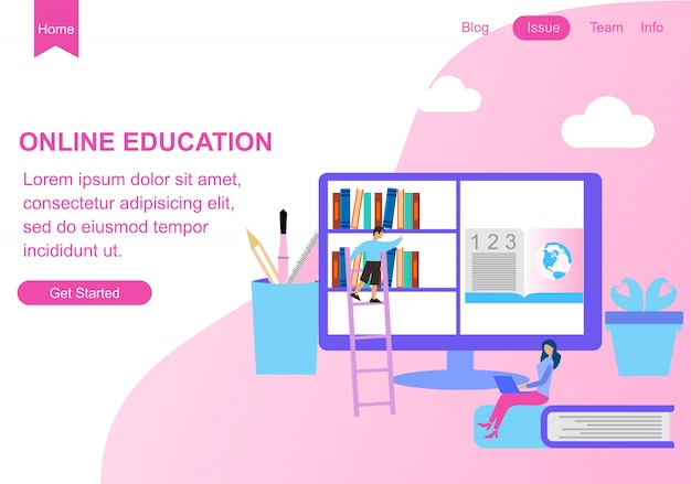Web page design templates for education