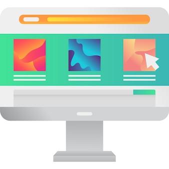 Веб-страница исследовать векторный icon, изолированные на белом фоне