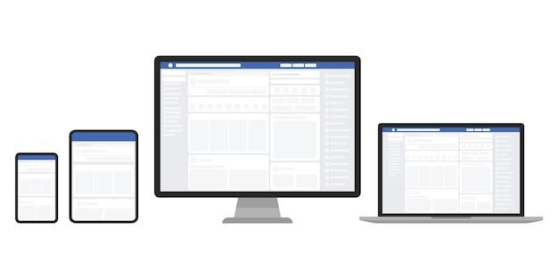 장치 세트의 웹 페이지.