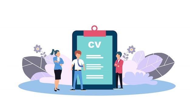 Web page template for human resources