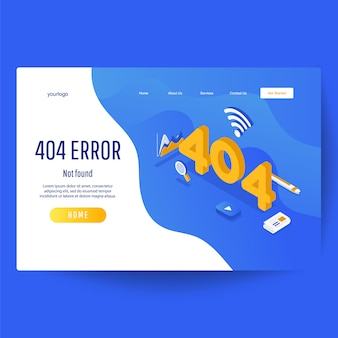 Web page with 404 error.