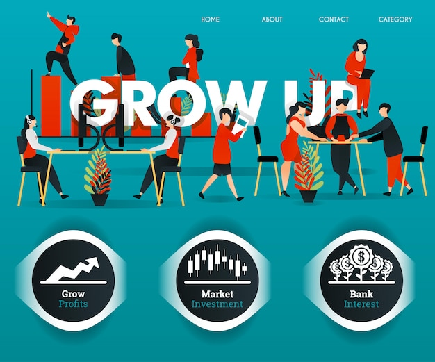 Web poster for grow up company