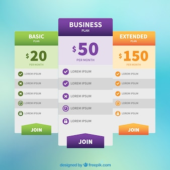 Web price banners