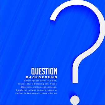 Web question mark help and support page template design