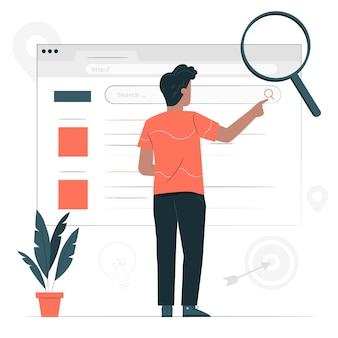 Web search concept illustration