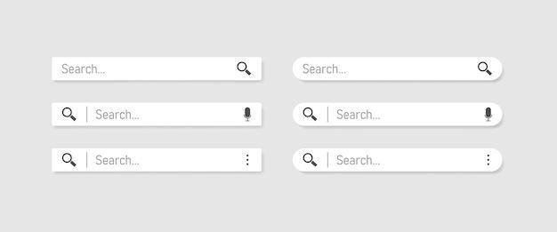 Web検索。検索バーは、検索ボタンでベクトルインターフェイス要素を設定します。 eps 10