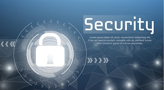 Web security illustration of secure access and cyber encryption lock for authorized access.