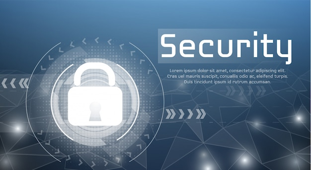 승인 된 액세스를위한 보안 액세스 및 사이버 암호화 잠금의 웹 보안 그림.