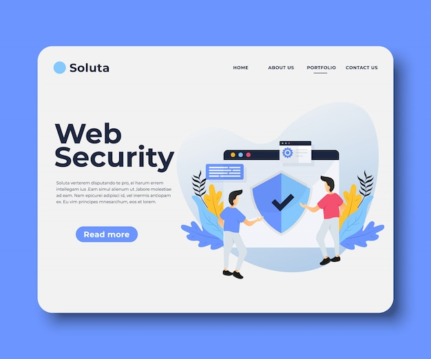 Web security landing page
