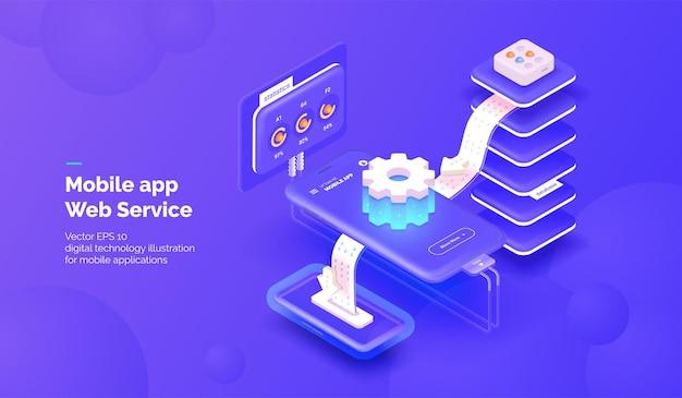 모바일 애플리케이션 통합 시스템 용 웹 서비스