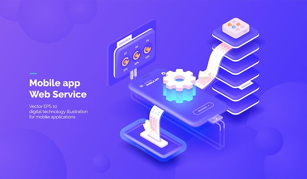 Web service for mobile applications integration systems