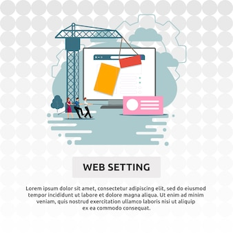 Web setting
