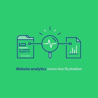 웹 사이트 분석 서비스 일러스트레이션