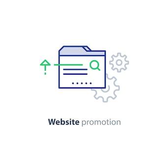 Иллюстрация концепции продвижения веб-сайта