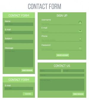 Web site registration or login contact ui