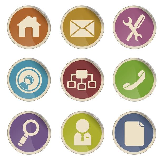 Web site vector icon set