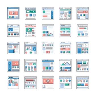 Webサイトsitemapsフラットアイコンパックはこちらです。ウェブデザイン、ウェブホスティング、ビデオ撮影、ウェブコミュニケーションなどに興味があるなら、この機会をつかみ、関連分野で使用してください。