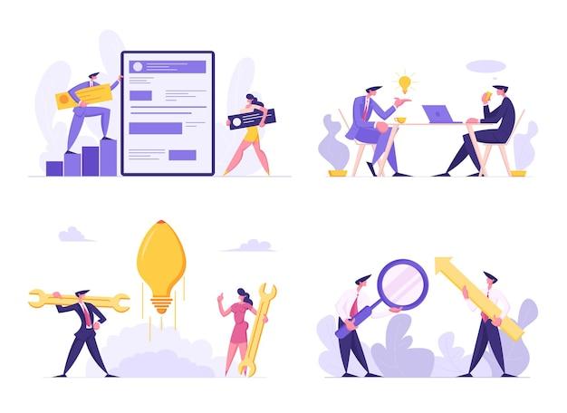 비즈니스 회의에서 웹 소프트웨어 개발