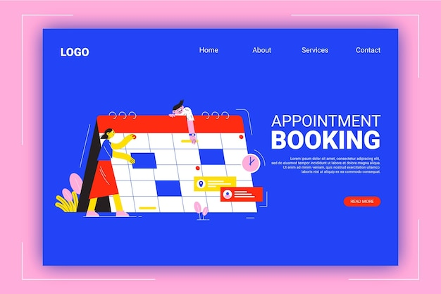Web template for appointment booking