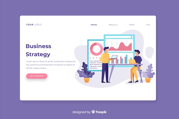 Web template business landing page